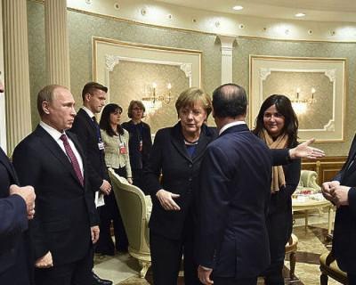 Владимир Путин покинул здание. Переговоры «нормандской четверки» в Минске завершены