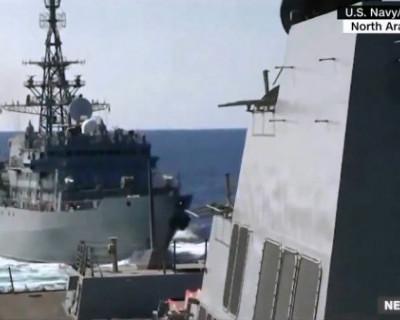 Российский и американский военные корабли опасно сблизились в Аравийском море