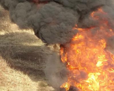 ЧП на выходных: севастопольская Орловка горела ярким пламенем