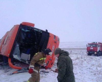 В ДНР попал в аварию автобус, следовавший маршрутом «Горловка—Севастополь» (ВИДЕО)