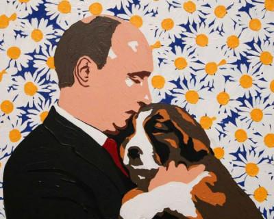 Автор картины «Путин в ромашках» создал серию работ с изображением вакцины против коронавируса (ФОТО)