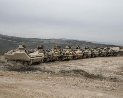 Турецкая армия атаковала позиции сирийских войск (ВИДЕО)