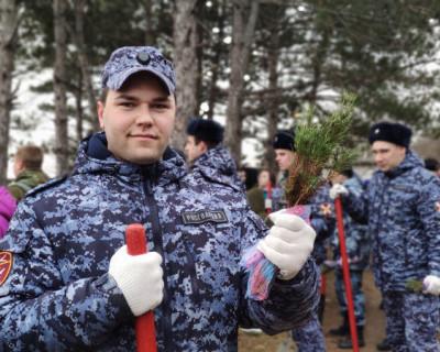 Севастопольские росгвардейцы присоединились к акции «Лес поколений»