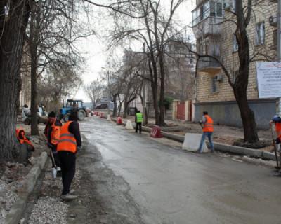 В Севастополе ремонт дороги на ул. Мокроусова идет с опережением графика