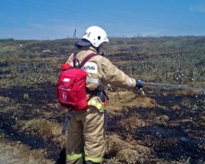 В Крыму произошло несколько крупных степных пожаров