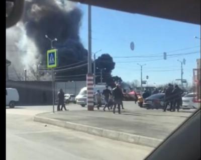 В Симферополе горел рынок «Привоз»