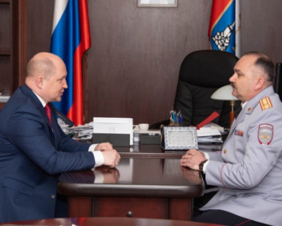 Врио губернатора Севастополя встретился с новым начальником УМВД