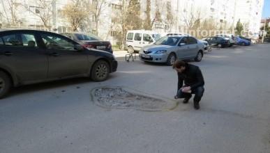 """Начало севастопольской акции """"Ударим краской по бездорожью!"""" (фото)"""