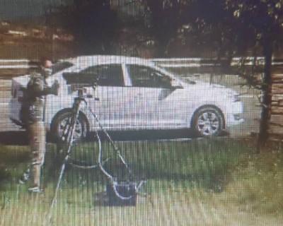 В Севастополе водитель взял краску и замазал камеру фиксации ПДД