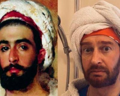Константин Хабенский воссоздал героя картины Константина Маковского «Бедуин» для ФБ–группы «Изоизоляция».