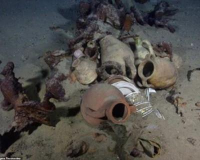 Археологи нашли 12 затонувших кораблей с сокровищами на дне Средиземного моря