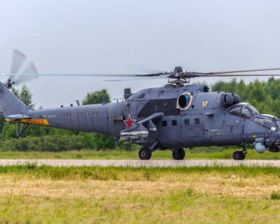В Крыму совершил жесткую посадку военный вертолет