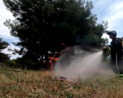 За сегодняшний день севастопольские спасатели трижды выезжали на тушение пожаров