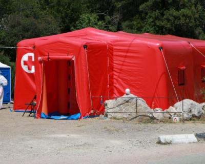 На въездах в Севастополь установлены новые медицинские модули для тестирования на коронавирус