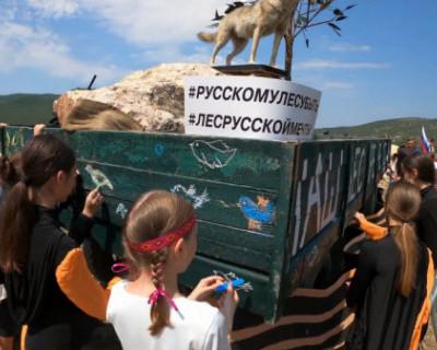 На площадке байк-шоу севастопольцы присоединились к акции «Голубь мира»
