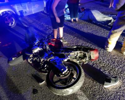 В ДТП на горной дороге в Крыму погиб мотоциклист