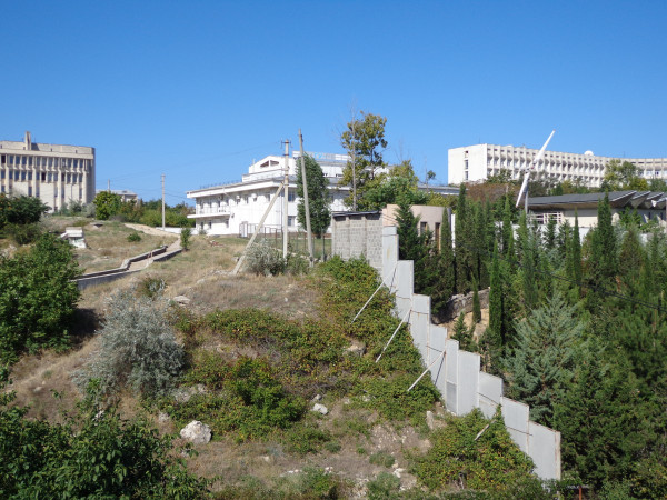 противооползневый забор в Севастополе