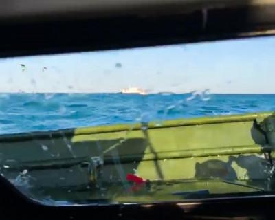 В Керченском проливе затонула бронемашина БРДМ-2