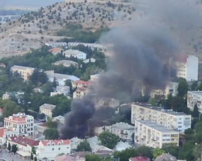 Пожар в Балаклаве (ВИДЕО)