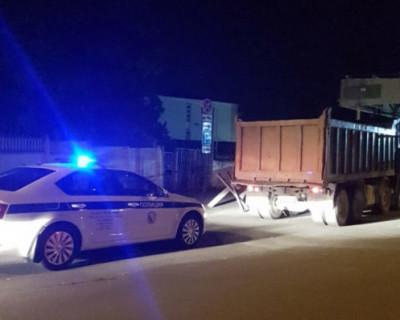 В Севастополе задержали грузовик с пьяным водителем