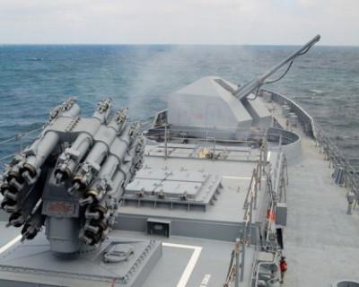 Фрегат «Адмирал Эссен» провёл артиллерийские стрельбы береговым целям