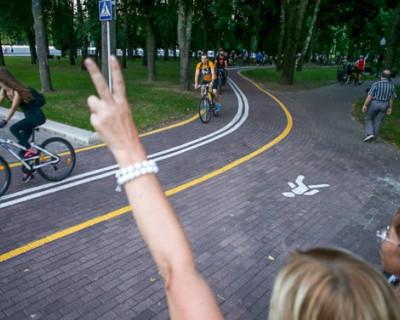 Милиция Минска гонялась за велосипедистами в центре города (ВИДЕО)
