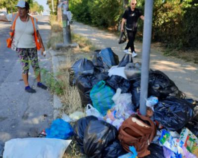 Стихийная свалка мусора в Севастополе! Горхозяйство бездействует