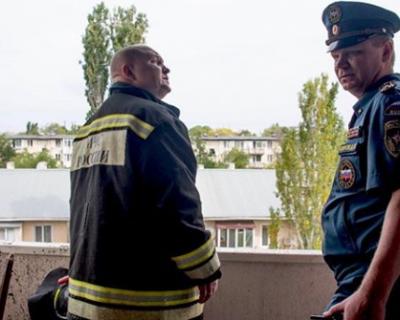 Михаил Развожаев оперативно собрал на месте взрыва в Каче все городские службы