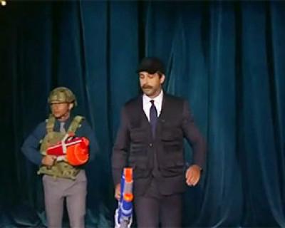 Ургант снял пародию на Александра Лукашенко с автоматом (ВИДЕО)