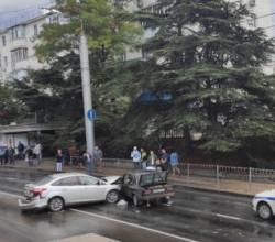 ДТП стало причиной транспортного затора в Севастополе