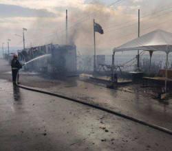 Лесные пожары в Луганской области дошли до линии разделения сторон