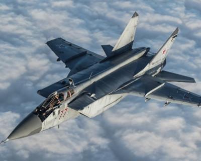 Минобороны России опубликовало видео боя истребителей МиГ-31 (ВИДЕО)
