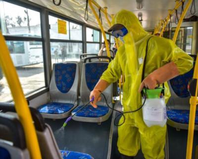Общественный транспорт Севастополя обрабатывают антисептиками