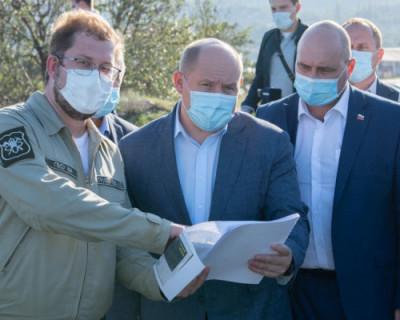 Губернатор Севастополя проверил строительство объектов, направленных на решение вопроса дефицита воды