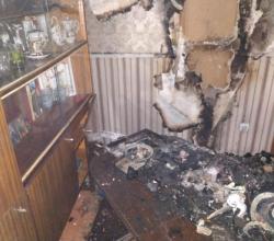 В Симферополе загорелся пятиэтажный дом