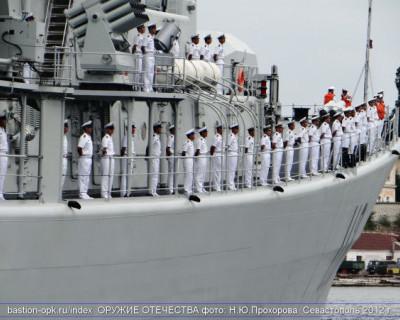 Визит китайского военного корабля «Циндао» в Севастополь