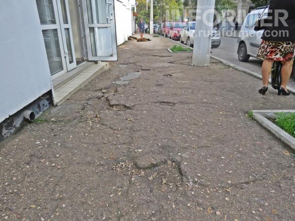 ямы тротуар рынок Севастополь