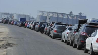 15 марта Керченскую переправу снова закрыли, в очереди 1000 автомобилей