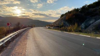 Продолжаются работы на автомобильной дороге «Симферополь – Бахчисарай – Севастополь»