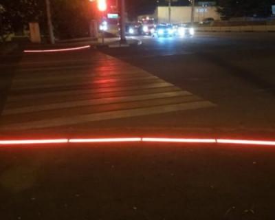 В Севастополе оборудовали пешеходный переход со световыми элементами