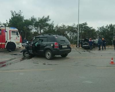 ДТП на Камышовом шоссе: лобовое столкновение и двое пострадавших
