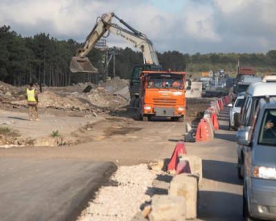 В Севастополе открыто движение на участке строящегося Камышового шоссе