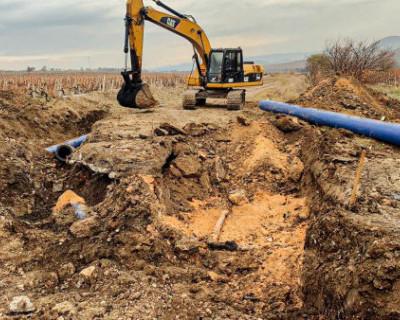 В Севастополе продолжается ликвидация аварии на участке газопровода в районе Золотой балки