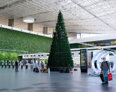 В аэропорту Симферополя установят новогоднюю елку