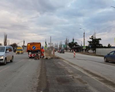 Четырехполосное движение на Камышовом шоссе будет запущено на следующей неделе