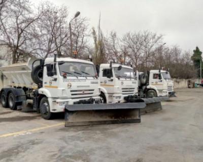 Севавтодором проведен полный цикл обработки основных дорог противогололедными материалами