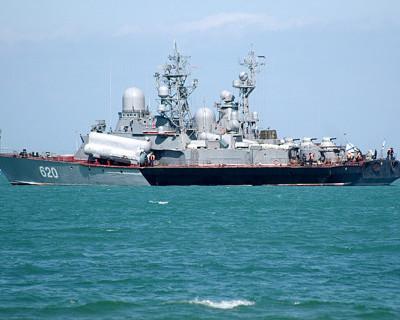 Корабли КЧФ  спешно вышли в море