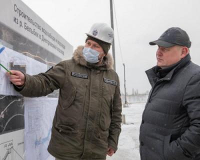 В Севастополе строительство водозабора на реке Бельбек идёт круглосуточно