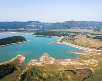 Темп наполнения Чернореченского водохранилища превышает расход воды