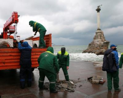 В Севастополе ликвидируют последствия шторма
